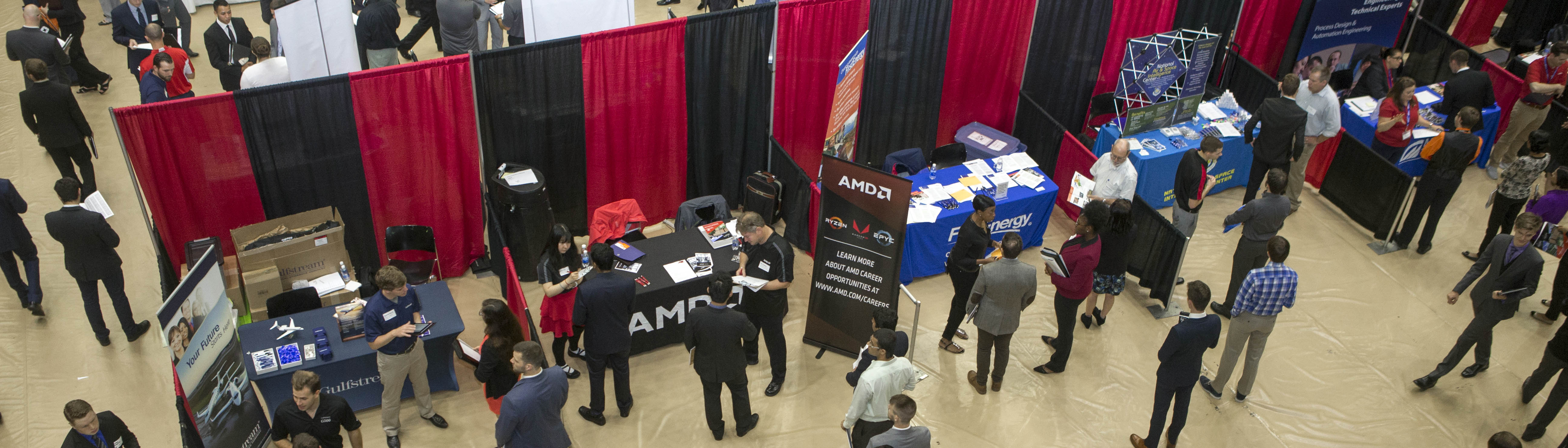 View of the Career Fair.